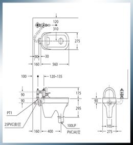 蹲式马桶 c-108+m702图片
